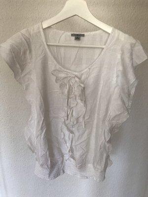 Weiße Bluse mit Rüschendetails