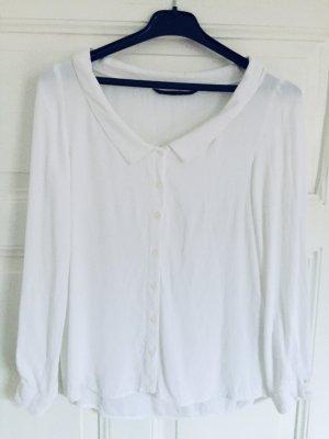 Weiße Bluse mit rundem Ausschnitt