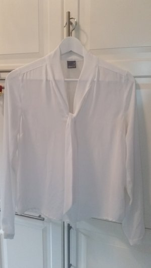 Weiße Bluse mit Schluppe Gr.36