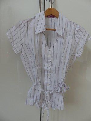 weiße Bluse mit schwarzen dünnen Streifen von 24hours
