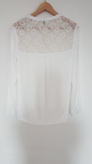 Weiße Bluse mit Spitze von Soyaconcept in Gr. S