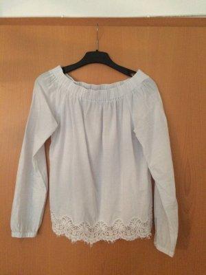 Weiße Bluse mit spitzen von Street one
