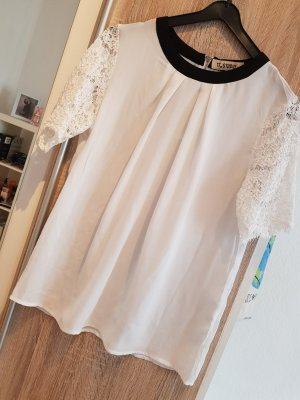 Lace Blouse white-black