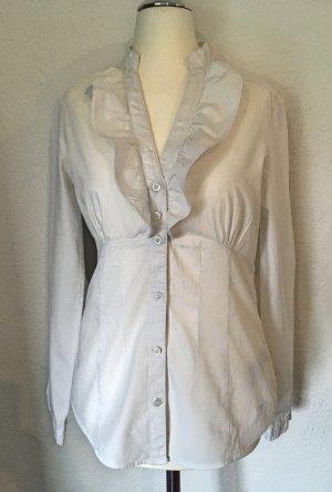 Weiße Bluse mit Stehkragen