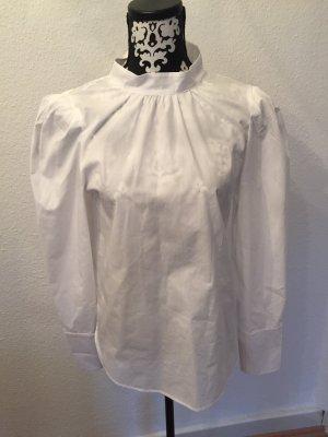 Weiße Bluse mit Stehkragen von H&M
