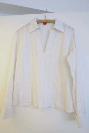 weiße  Bluse mit Stickerei