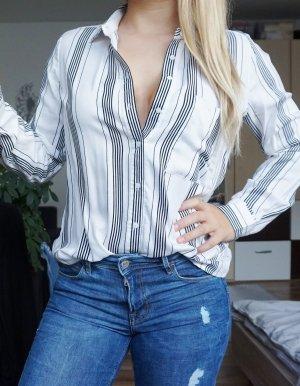 weiße Bluse mit Streifen NEU
