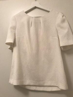 Weiße Bluse mit Struktur