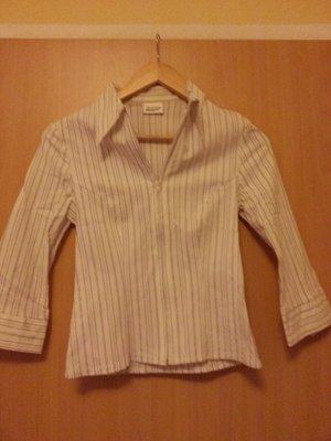 weiße Bluse Nadelstreifen