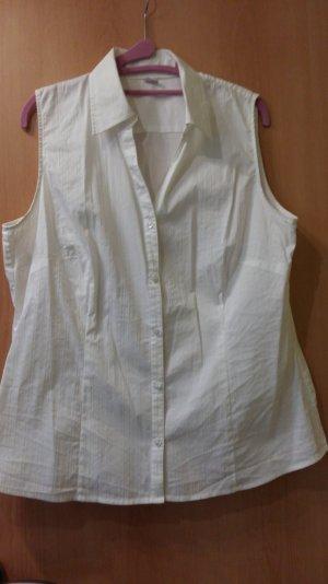 Weiße Bluse ohne Ärmel