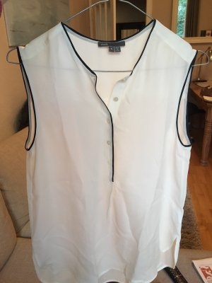 Weiße Bluse ohne Ärmel von Vince