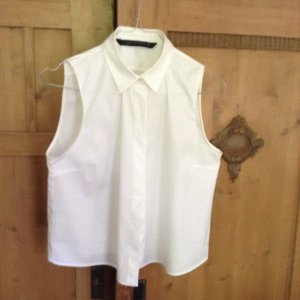 Weiße Bluse ohne Arme, XS