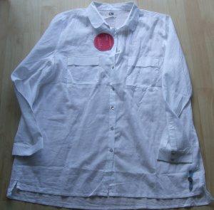 weiße Bluse oversized von Cannery Row Vintage - Gr. 42 - NEU