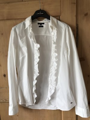 Weiße Bluse Rüschchen Tommy Hilfiger Gr. 12