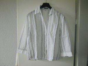 weiße Bluse / schwarz gestreift