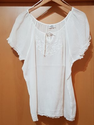 weiße Bluse Sommerbluse Tunika Shirt Gina Benotti Gr. 44/46