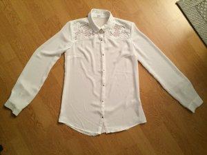 weiße Bluse spitze Pimkie XS Kragen