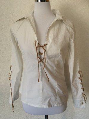 weiße Bluse / Überziehbluse / Langarmbluse von Amisu- Gr. 36