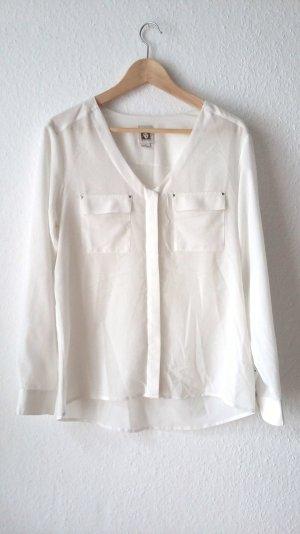 weiße Bluse von Anne Klein