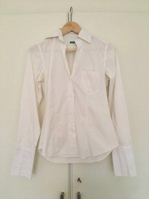 Weiße Bluse von Benetton, Gr.36