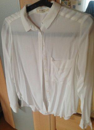 Weiße Bluse von Bershka