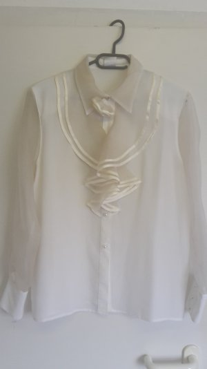 C&A Tie-neck Blouse white