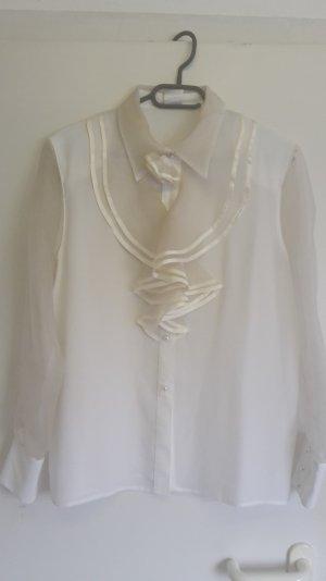 C&A Blouse avec noeuds blanc