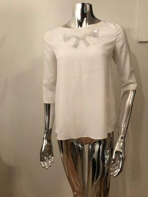 Weiße Bluse von Claudie Pierlot mit 3/4 Arm
