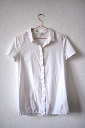 COS Short Sleeved Blouse white cotton