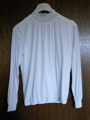 Weiße Bluse von Esprit in Gr. M, viktorianischer Stil