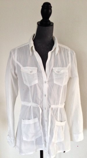 Weiße Bluse von Garcia, Gr. S