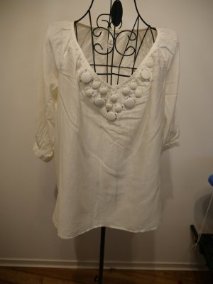 H&M Chemisier body blanc coton