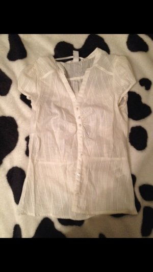 H&M V-Neck Shirt white