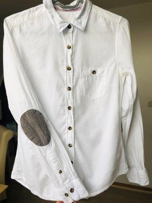 Weiße Bluse von H&M - Kariert - Schildpatt Knöpfe - Trend