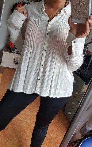 Weiße Bluse von Hollister, einmal getragen Gr M