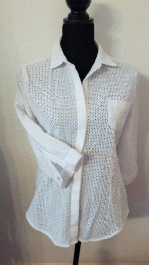 weiße Bluse von Opus, spitzenoptik, Gr. 40