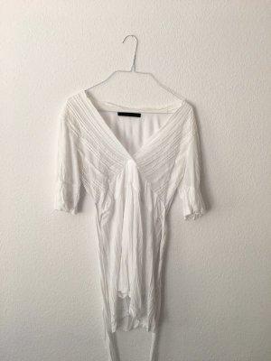 weiße Bluse von Oui mit Schnürung
