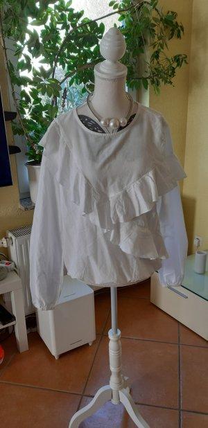 Reserved Blusa con volantes blanco