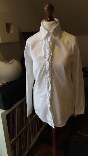 rossana diva Ruffled Blouse white cotton