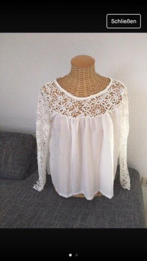 Zara Blusa de túnica blanco-blanco puro