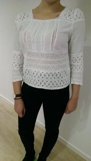 Weiße Bluse Zara Größe XS (34) im Hippie-Style