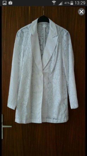 Weiße Blusenjacke mit Muster