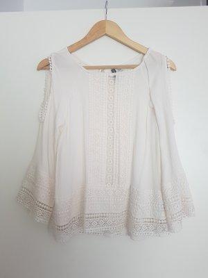 weiße Boho-bluse
