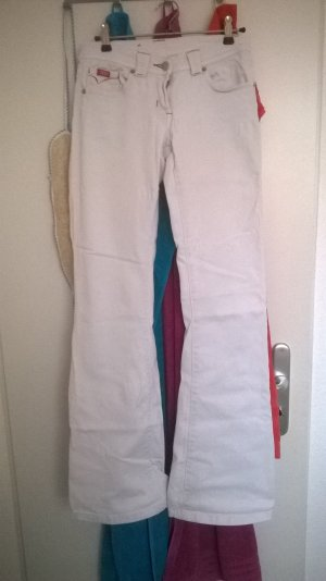 weiße Bootcut Jeans Gr. 34/36