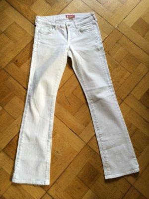 Weiße Bootcut Jeans (Größe 28)