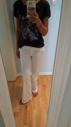 weisse Bootcut Jeans von H&M