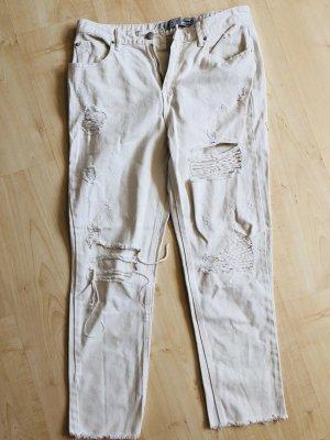 Weisse Boyfriend Jeans 38