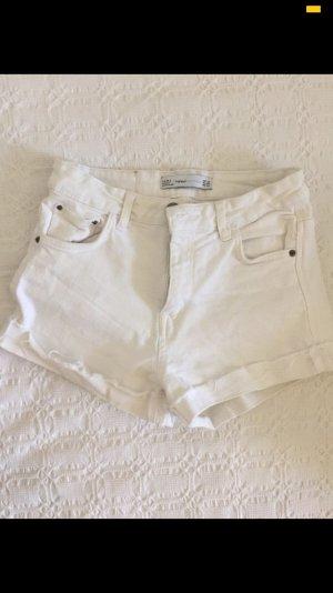 Weiße Brandy Shorts