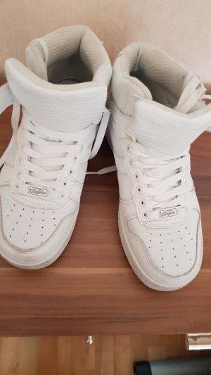weiße Buffalo Schuhe GR 39, 2 mal getragen Klettverschluss