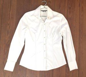 weiße Business Bluse von ZARA mit Ziernähten * Gr. M 38